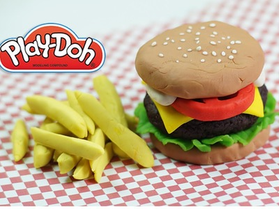 No mold Play doh hamburger How to make a playdoh burger diy hamburger