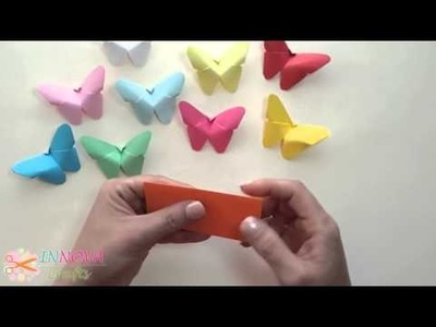 ORIGAMI: HOW TO creat BUTTERFLIES Paper craft  very EASY