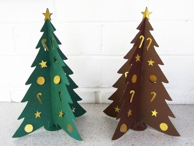 Paper Christmas tree DIY - learn how to make this Christmas craft from template - EzyCraft