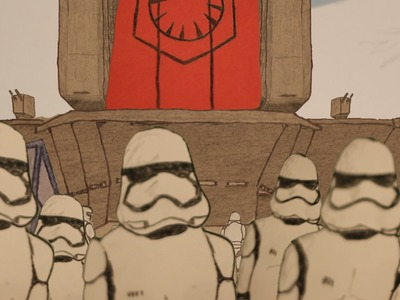 Paper Star Wars The Force Awakens Trailer