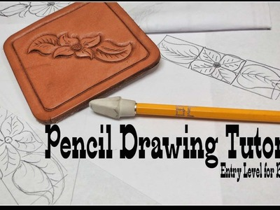 Pencil drawing tutorial how to draw designs on paper for beginners entry level for leather tooling