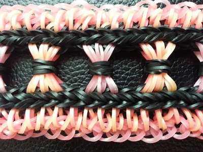 """Rainbow loom """"The Curtain call Bracelet"""" Tutorial"""