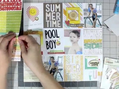 Scrapbook Process Video: Zoned Out Series Video #3: PL Inspired Layouts