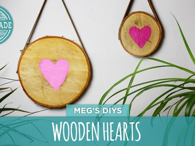 Valentine's Day DIY Wooden Hearts - HGTV Handmade