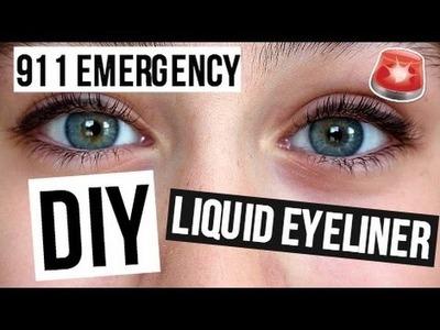 911 Emergency DIY Liquid Eyeliner!