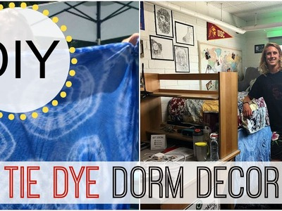 Back to School Dorm Room DIY -  Tie Dye Bed Skirt | Michele Baratta