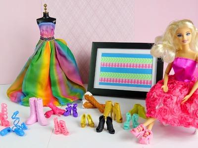 Barbie SHOPPING SURPRISE SHOES dress up high heels sports shoes ballet flats platforms boots