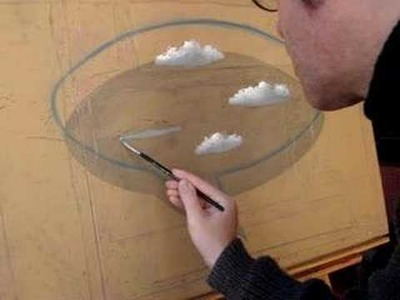 Como pintar nubes.  How to paint clouds