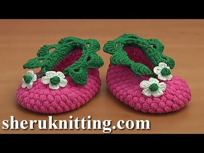 Crochet Raspberry Baby Booties Tutorial 83 Part 1 of 2