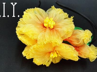 ❀ ♡ ❀ D.I.Y. Double Tone Organza Flower ❀ ♡ ❀