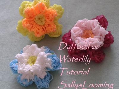 Daffodil or Waterlily Flower Loom Band Tutorial