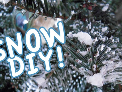 DIY Flock Your Christmas Tree, or Wreath With Soap