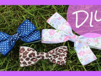 DIY Hair Bows 2 Styles