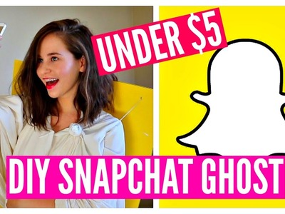DIY Halloween Costume Idea! Funny, Cheap & Easy! SNAPCHAT GHOST