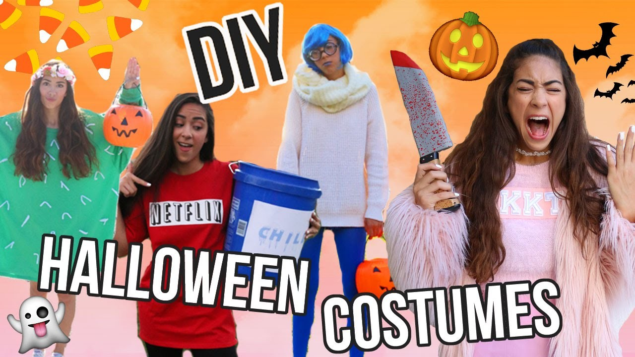 DIY LAST MINUTE HALLOWEEN COSTUMES! Easy, Quick, and Affordable!