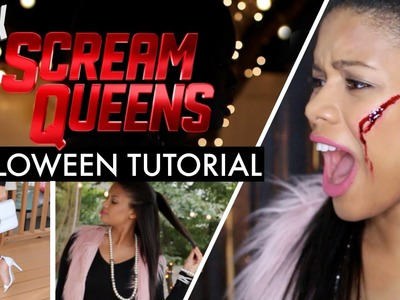 DIY SCREAM QUEENS Halloween Costume + FX Makeup | Chloe Cori