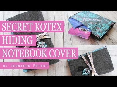 DIY Secret Compartment Notebook Cover   Hide Your Kotex #sponsored