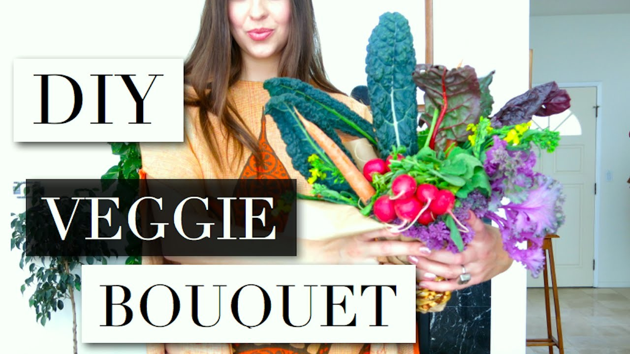 DIY VALENTINE'S DAY VEGGIE BOUQUET