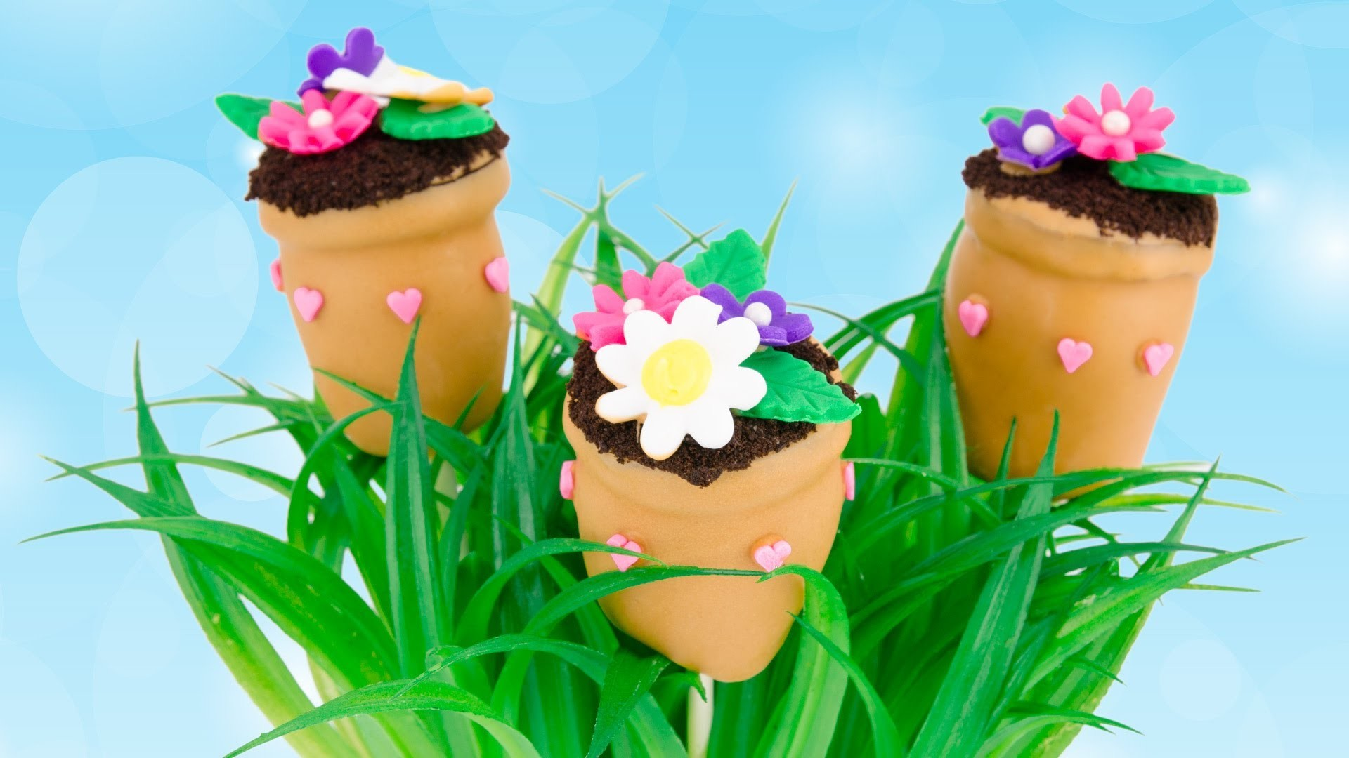 Flower Pot Cake Pops for Mother's Day from Cookies Cupcakes and Cardio