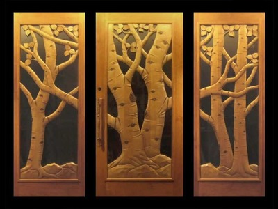 Hand Carved Entry Doors by Ron Ramsey
