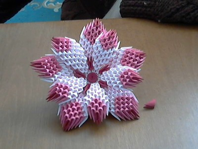 How to make 3d origami flower (model1)