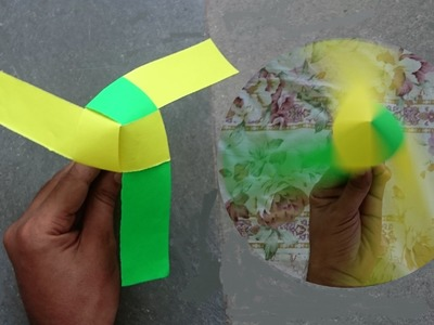How to Make a Rotating Paper Fan - Easy Way | Origami