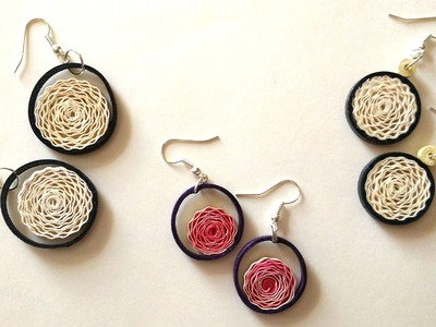 How To Make Earrings Using Paper Art Quilling