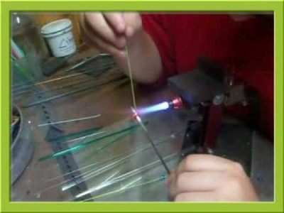 How to make Lampwork Crimped Beads