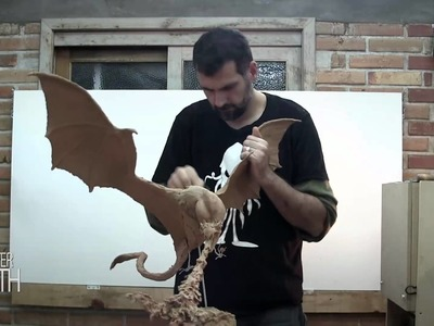 HOW TO SCULPT A DRAGON ATTACKING IN MID FLIGHT - MONSTER MONTH - DAY 17