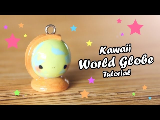 Kawaii World Globe │ Polymer Clay Tutorial (Back To School)