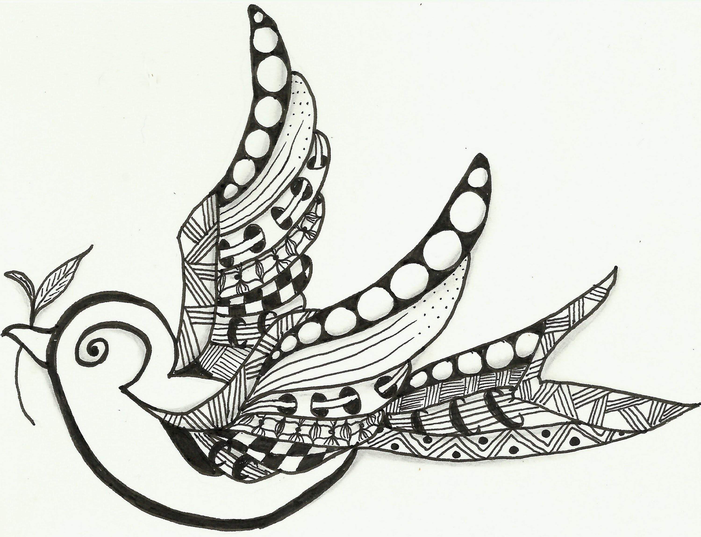 Little Bird Zentangle