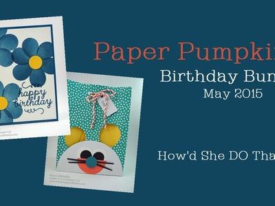 May 2015 Paper Pumpkin Birthday Bundle Ideas by Dawn O