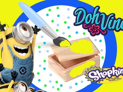 Minion Mini Toy Box DIY DohVinci Play Doh Craft Shopkins Microlite & Sponge Bob Eraseez Blind Bags