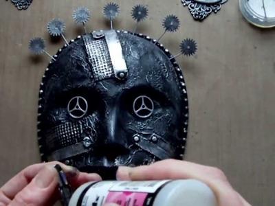 Mixed Media Art - Steampunk Altered Mask