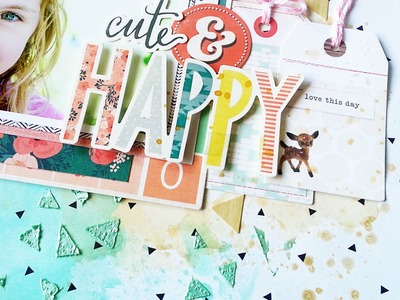 Mixed Media Scrapbooking- Shimmerz & Crate Paper Wonder collection