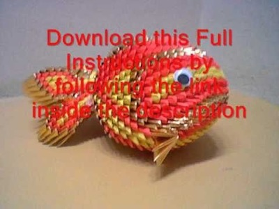 Origami 3d tutorial koi fish
