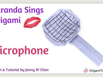 Origami Microphone. Origami Mic - Miranda Sings Inspired Paper Craft