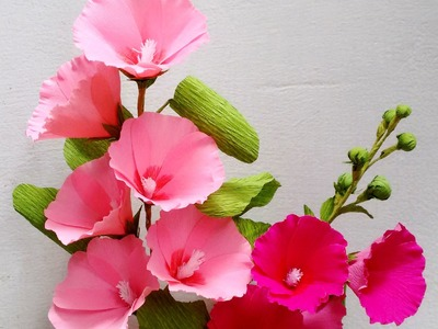 Paper Flowers - Hollyhock. Mallows