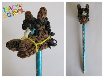 Rainbow Loom horse pencil topper Loombicious