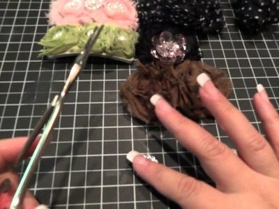 Rosette Barette Covers and Rosette Hair Ties Tutorial Part 1