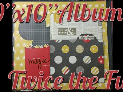 Scrapbook Mini Album | Twice the Fun | Simple Stories Say Cheese I & II