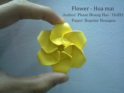 Tutorial How to make flower - hoa mai Pham Hoang Hai by Paper Ph2