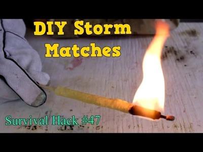 Ultimate DIY Storm Matches - Survival Hack