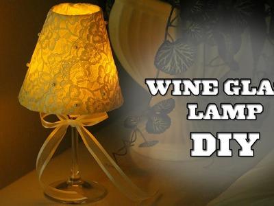 Wine Glass Lamp ♥ DIY
