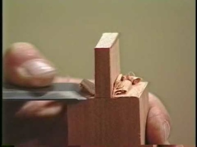 Woodworking Cutting Tenons with the 1 1.2 chisel