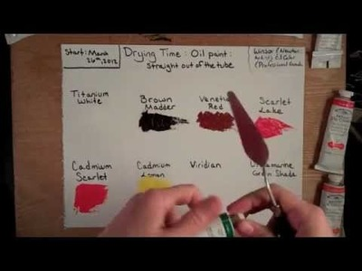 #1 How fast does oil paint dry? (straight out of the tube)