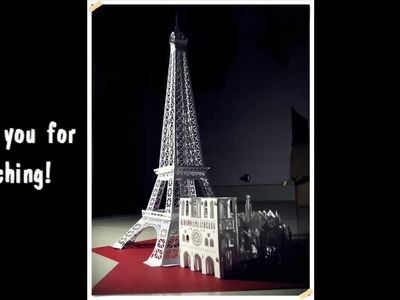 3D Eiffel Tower, Paris Origamic Architecture | FREE PATTERN