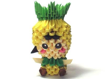 3D origami pineapple girl
