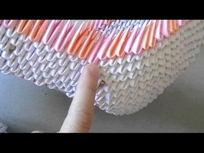 3D origami: swan loveboat