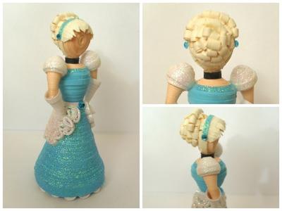 3D Paper Quilled Cinderella Doll